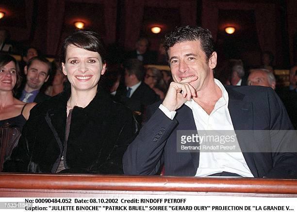 Juliette Binoche 'Patrick Bruel' 'Gerard Oury' film screening of 'La Grande Vadrouille' at the Garnier opera