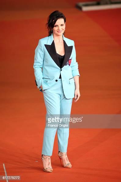 Juliette Binoche walks a red carpet for 'The English Patient Il Paziente Inglese' during the 11th Rome Film Festival at Auditorium Parco Della Musica...