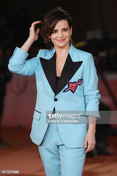 Juliette Binoche walks a red carpet for 'The English Patient Il Paziente Inglese' during the 11th Rome Film Festival at Auditorium Parco Della Musica...