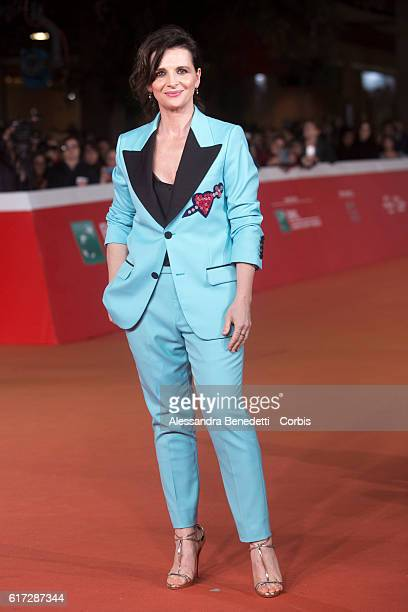 Juliette Binoche walks a red carpet for 'The English Patient Il Paziente Inglese' during the 11th Rome Film Festival on October 22 2016 in Rome Italy