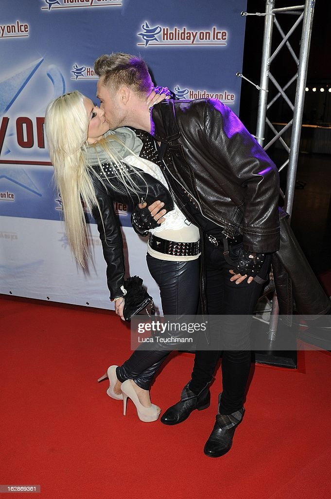 Juliette Giegler and Nico Schwanz (R) attend the Holiday On Ice Show at Tempodrom on February 28, 2013 in Berlin, Germany.