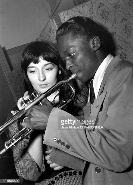 Juliette Greco And Miles Davis At The 'Salle Pleyel