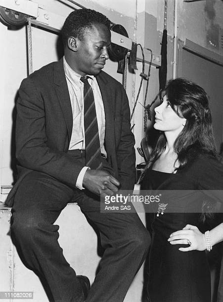 Juliette Greco and Miles Davis In Paris France