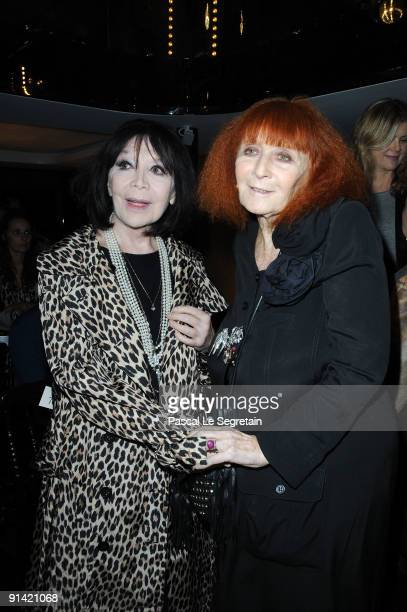 Juliette Greco and Sonia Rykiel attend the Sonia Rykiel Pret a Porter show as part of the Paris Womenswear Fashion Week Spring/Summer 2010 at...