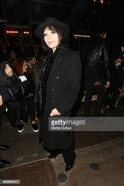 Juliette Greco attends the Saint Laurent Menswear Fall/Winter 20142015 Show as part of Paris Fashion Week on January 19 2014 in Paris France