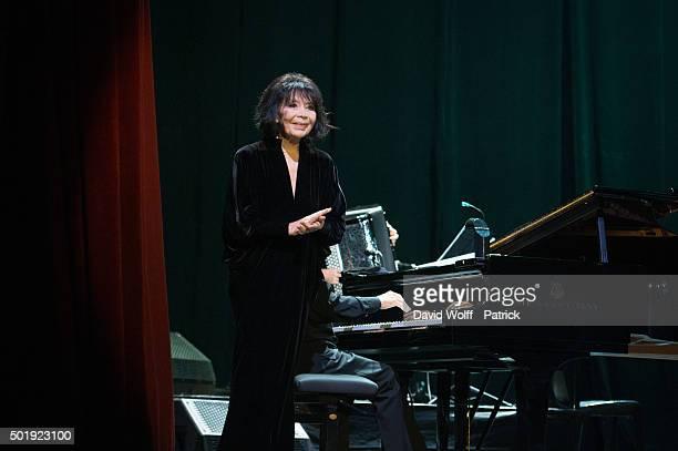 Juliette Greco performs at La Cigale on December 18 2015 in Paris France