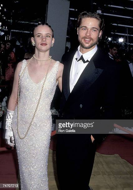 Juliette Lewis and Brad Pitt at the Dorothy Chandler Pavilion in Los Angeles California