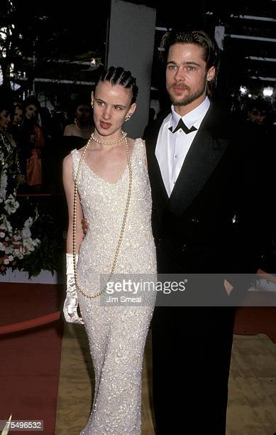 Juliette Lewis and Brad Pitt at the Dorothy Chandler Pavilion in Los Angeles CA