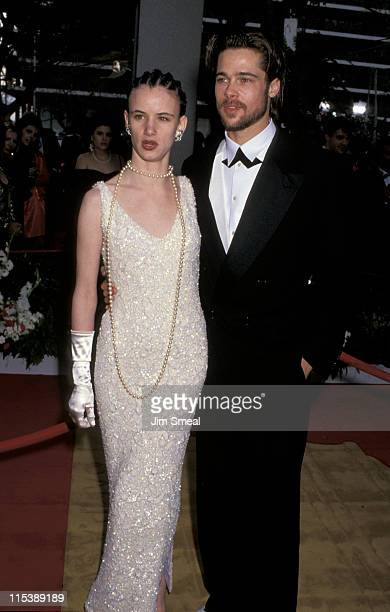 Juliette Lewis and Brad Pitt during 64th Annual Academy Awards at Dorothy Chandler Pavilion in Los Angeles California United States
