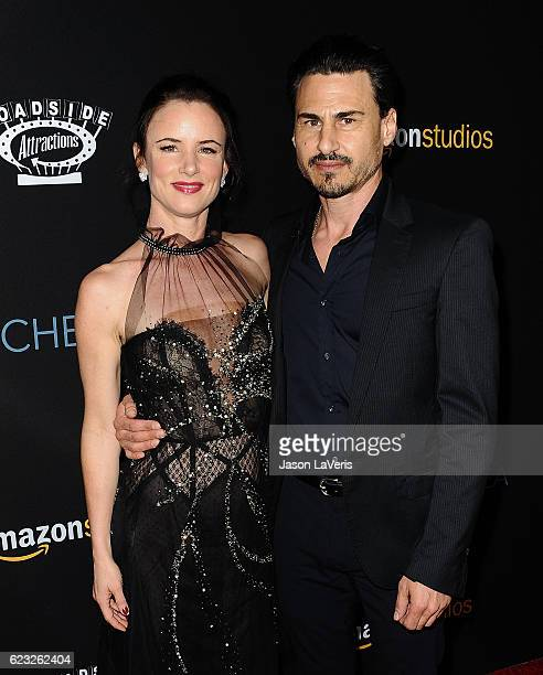Juliette Lewis and Brad Wilk attend the premiere of 'Manchester by the Sea' at Samuel Goldwyn Theater on November 14 2016 in Beverly Hills California