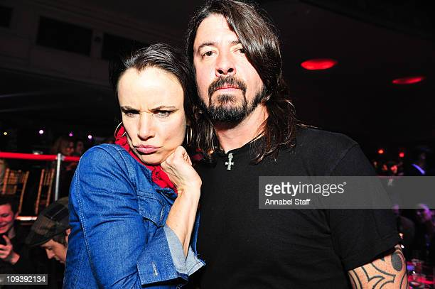 Juliette Lewis and Dave Grohl attend the Shockwaves NME Awards at Brixton Academy on February 23 2011 in London England