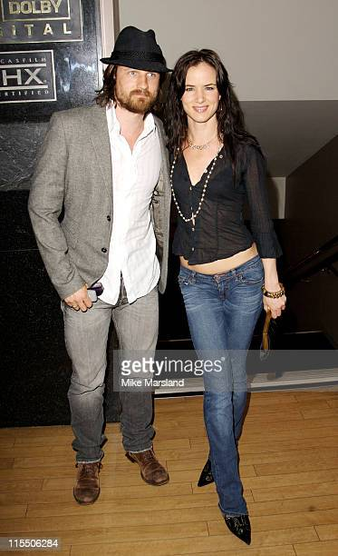 Juliette Lewis and Martin Henderson during 'Little Fish' London Premiere Outside Arrivals July 16 2006 at Curzon Soho in London Great Britain
