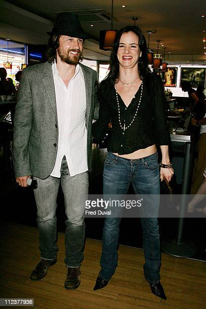 Juliette Lewis and Martin Henderson during 'Little Fish' UK Premiere Outside Arrivals at Curzon Soho in London Great Britain