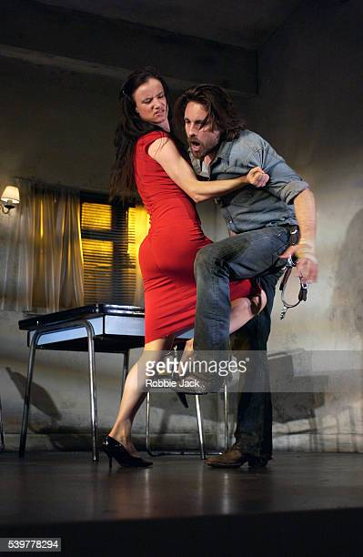 Juliette Lewis and Martin Henderson in the production Fool For Love at the Apollo Theater in London England