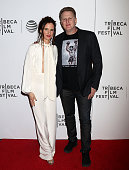 Juliette Lewis and Michael Rapaport attend Festival Hub Opening Night 'Hard Lovin' Woman' 2016 Tribeca Film Festival at Spring Studios on April 15...