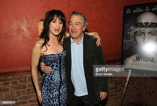 Juliette Lewis and Tribeca Film Festival cofounder Robert De Niro attend Tribeca Film Metropia Cocktails at City Hall during the 2010 Tribeca Film...