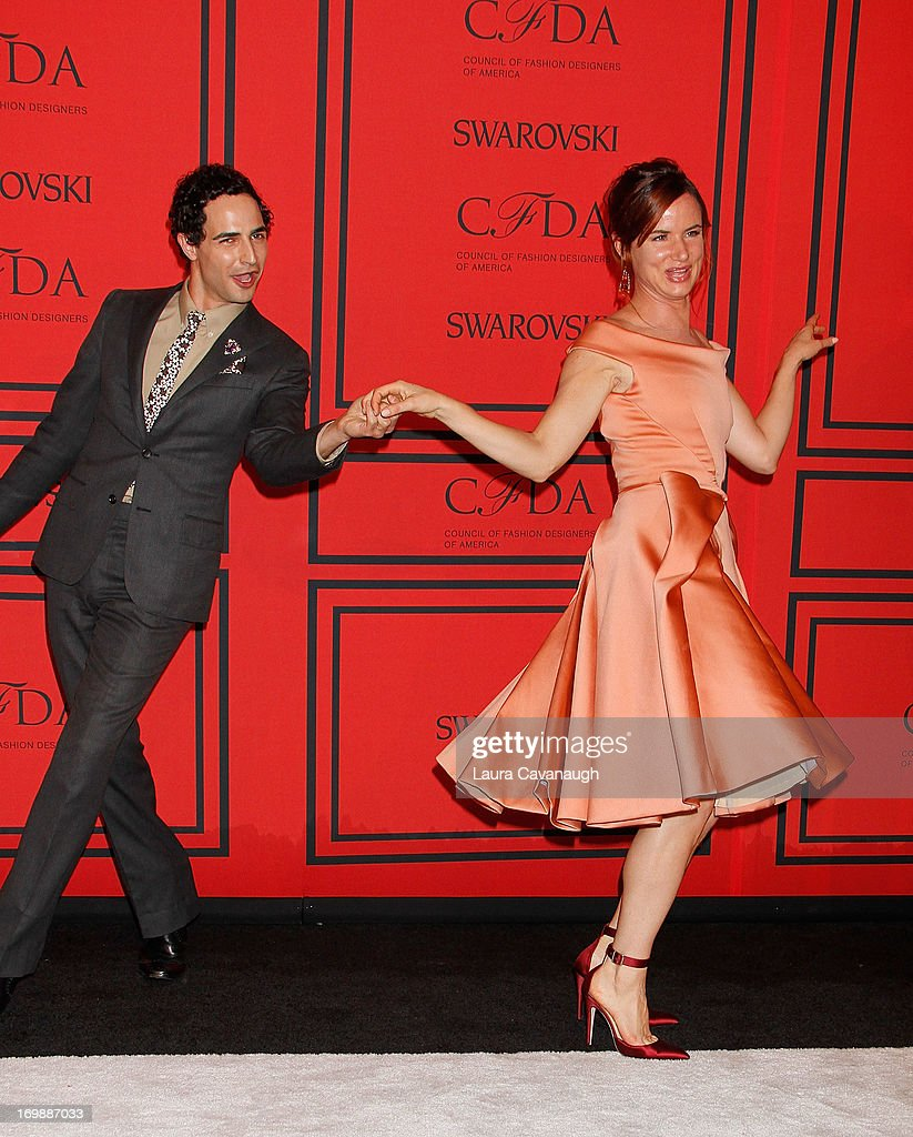 Juliette Lewis and Zac Posen attend the 2013 CFDA Fashion Awardson June 3, 2013 in New York, United States.