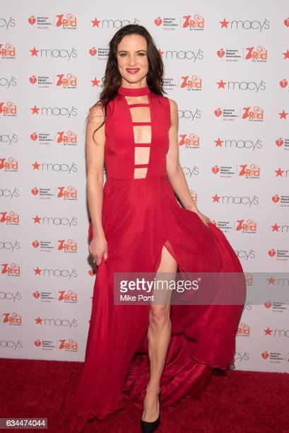Juliette Lewis attends the American Heart Association's Go Red for Women Red Dress Collection 2017 during New York Fashion Week at Hammerstein...