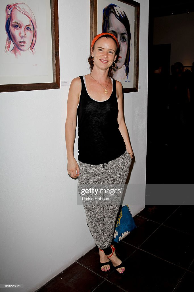 <a gi-track='captionPersonalityLinkClicked' href=/galleries/search?phrase=Juliette+Lewis&family=editorial&specificpeople=202873 ng-click='$event.stopPropagation()'>Juliette Lewis</a> attends the Mercedes Helnwein 'The Trouble With Dreams' gallery reception at Merry Karnowsky Gallery on October 5, 2013 in Los Angeles, California.