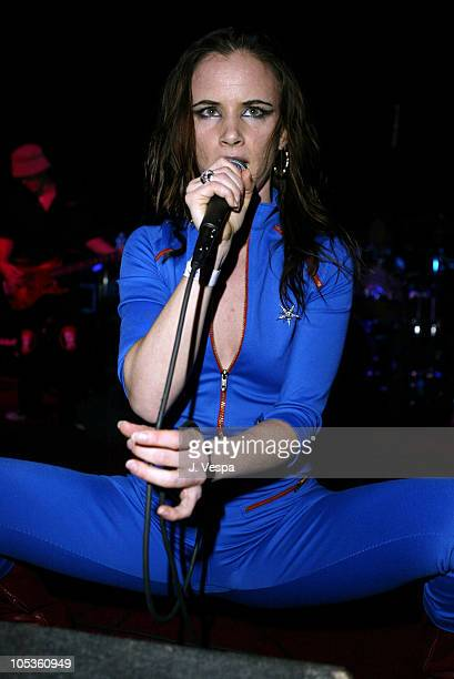 Juliette Lewis during A Diamond is Forever Oscar Party with Camp Freddy Performance Inside at SOHO House in Los Angeles California United States
