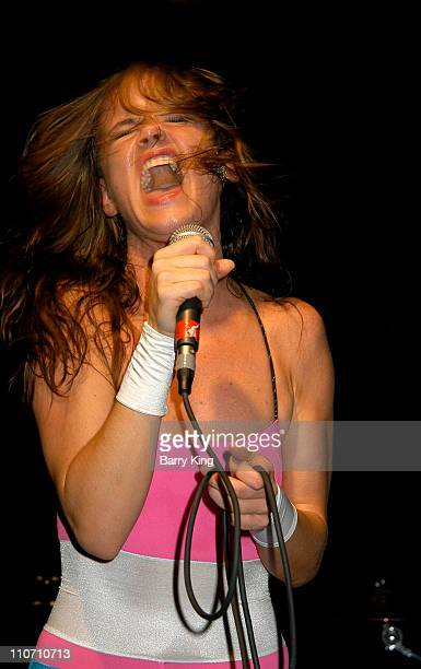 Juliette Lewis of Juliette and the Licks during Juliette and the Licks Perform In Concert at The Knitting Factory in Hollywood California United...