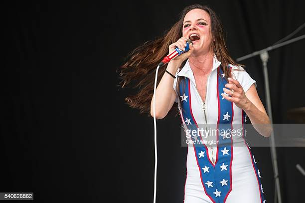 Juliette Lewis of Juliette Lewis and the Licks performs onstage on Day 2 of Download Festival 2016 at Donnington Park on June 11 2016 in Donnington...