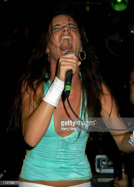 Juliette Lewis performing with her band Juliette the Licks at the Viper Room in West Hollywood California on August 14 2003