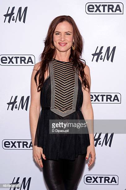 Juliette Lewis visits 'Extra' at their New York studios at HM in Times Square on March 2 2015 in New York City