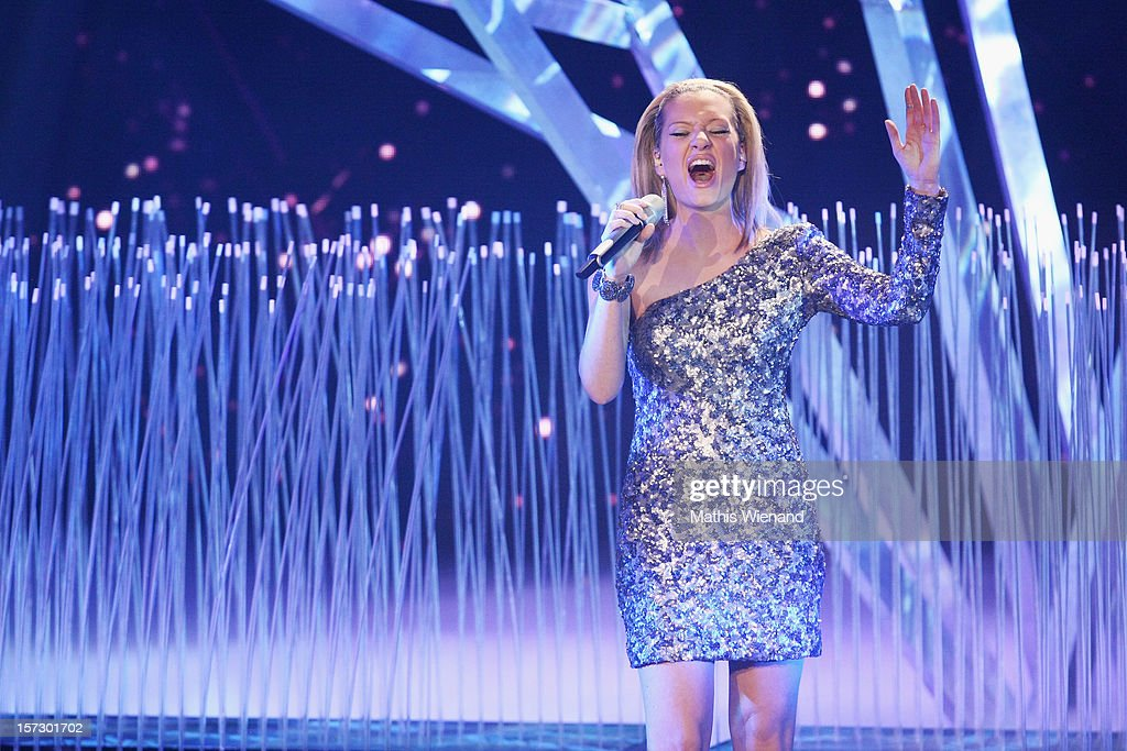 Juliette Schoppmann attends the First Live Show of 'Das Supertalent' on December 1, 2012 in Cologne, Germany.
