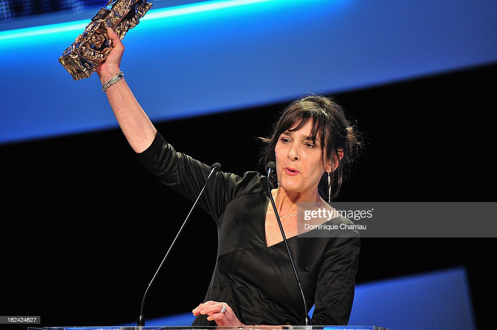 Juliette Welfling receives the Best Editing Cesar for 'De rouille et d'os' during the 37th Cesar Film Awards Cesar Film Awards 2013 at Theatre du Chatelet on February 22, 2013 in Paris, France.