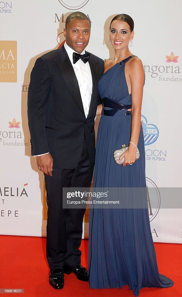 Julio Baptista and Silvia Nistal attend the Global Gift Gala 2012 a party held by Cesare Scariolo Foundation and Eva Longoria Foundation to raise...