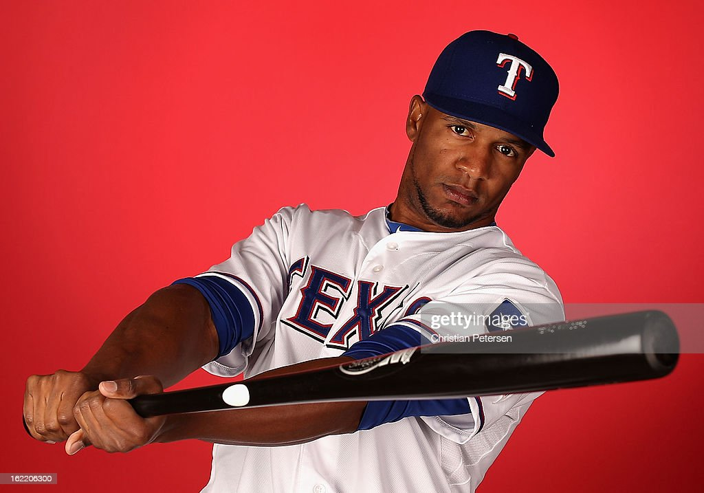 Julio Borbon #20 of the Texas Rangers poses for a portrait during spring training photo day at Surprise Stadium on February 20, 2013 in Surprise, Arizona.