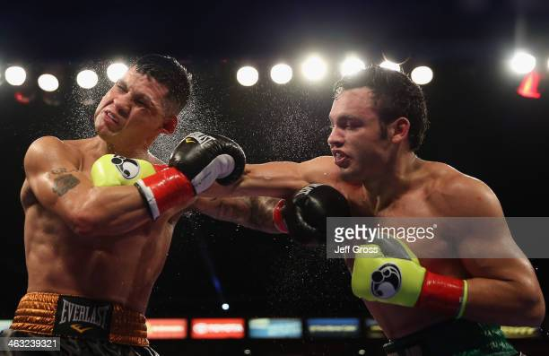 Julio Cesar Chavez Jr lands a right hand to the head of Brian Vera during their Light Heavyweight bout at StubHub Center on September 28 2013 in Los...