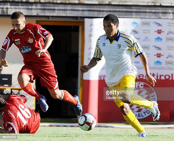 Julio Cesar Leon of Parma in action during the friendly match between Parma and Sudtirol on July 25 2009 in Naturno Italy
