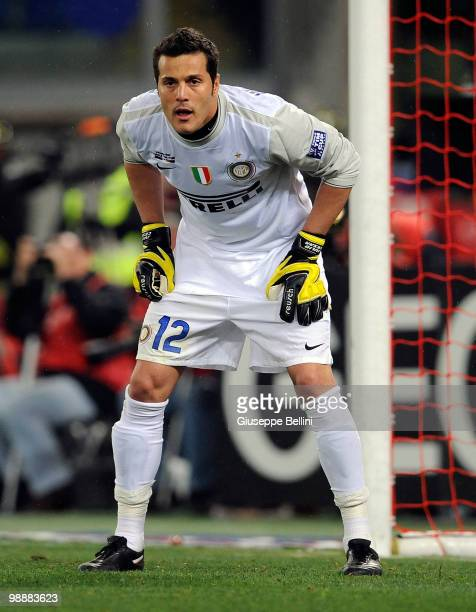 Julio Cesar of Inter in action during the match the Tim Cup between FC Internazionale Milano and AS Roma at Stadio Olimpico on May 5 2010 in Rome...