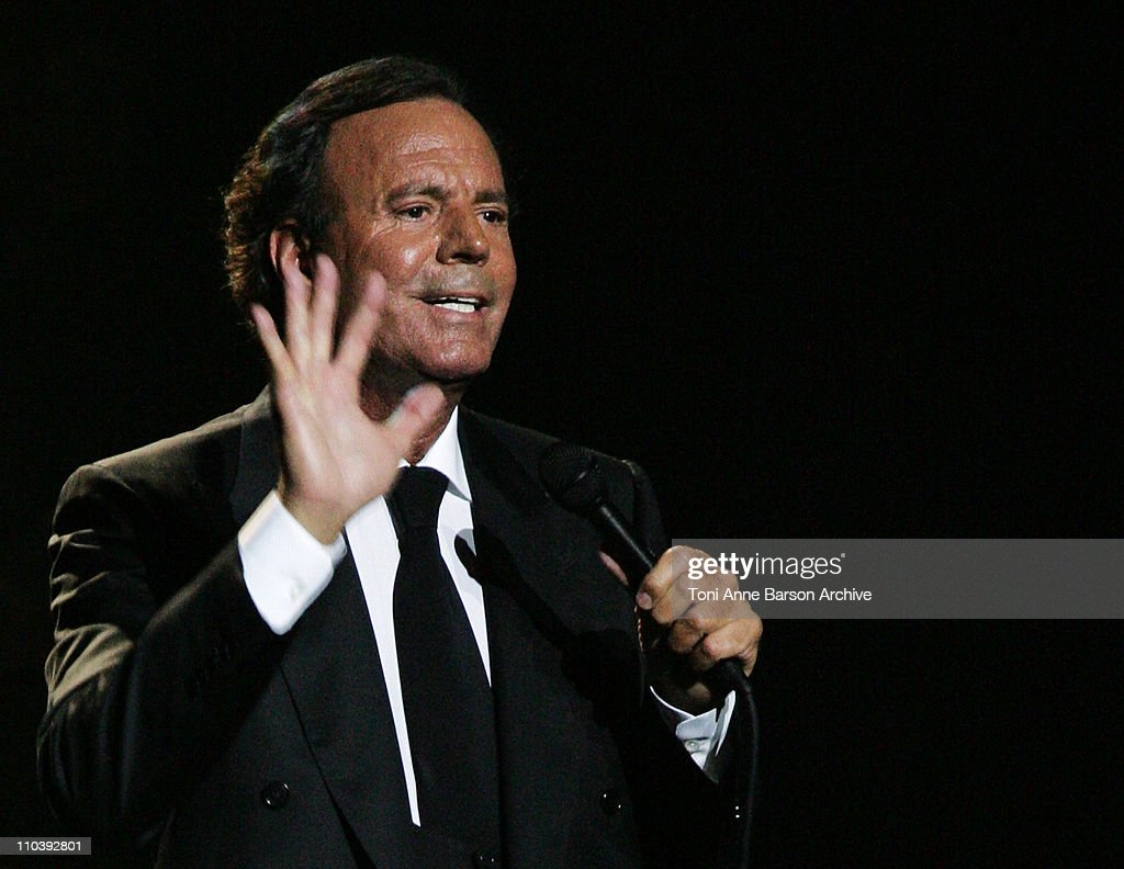 <a gi-track='captionPersonalityLinkClicked' href=/galleries/search?phrase=Julio+Iglesias&family=editorial&specificpeople=218023 ng-click='$event.stopPropagation()'>Julio Iglesias</a> during <a gi-track='captionPersonalityLinkClicked' href=/galleries/search?phrase=Julio+Iglesias&family=editorial&specificpeople=218023 ng-click='$event.stopPropagation()'>Julio Iglesias</a> in Concert at Nikaia in Nice - June 24, 2005 at Nikaia in Nice, France.