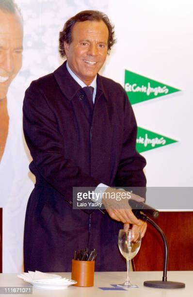 Julio Iglesias during Julio Iglesias Signs his New Album 'Divorcio' in Madrid at El Corte Ingles in Madrid Spain