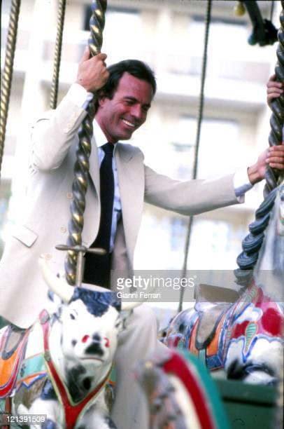 Julio Iglesias in the Amusement Park 1st April 1981 Madrid Spain