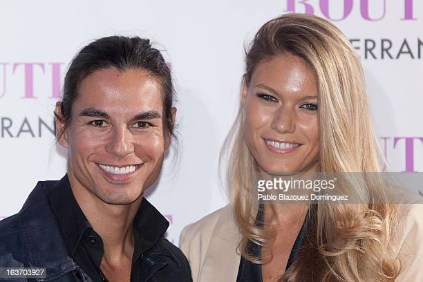 Julio Iglesias Jr and Charisse Verhaert attend Julio Jose Iglesias' birthday party at Le Boutique Club on March 14 2013 in Madrid Spain