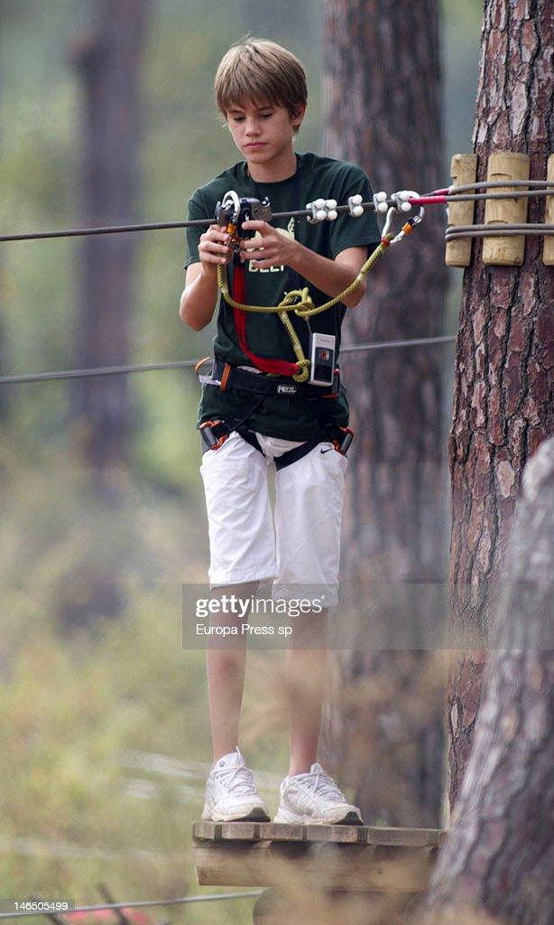 Julio Iglesias's son Rodrigo Iglesias is seen playing with tiroline on June 5, 2012 in Marbella, Spain.