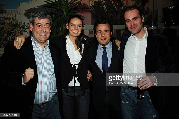 Julio Leon Ana Iza Juan Jo Soeonayor and Pablo Abad attend TOMMY HILFIGER Fall 2007 Collection AFTERPARTY at Bungalow 8 on February 9 2007 in New...