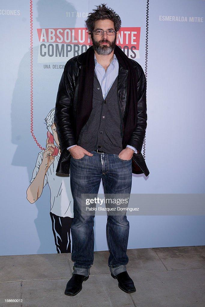 Julio Perillan attends 'Absolutamente Comprometidos' premiere at Teatro del Arte de Madrid on December 22, 2012 in Madrid, Spain.