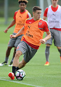 Julio Pleguezuelo of Arsenal during a training session at London Colney on July 21 2016 in St Albans England