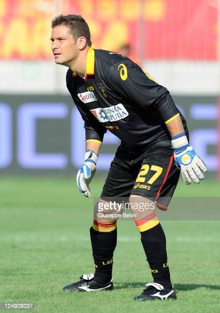 Julio Sergio of Lecce in action during the Serie A match between US Lecce and Udinese Calcio at Stadio Via del Mare on September 11 2011 in Lecce...