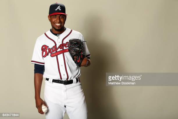 Julio Teheran poses for a portrait during Atlanta Braves Photo Day at Champion Stadium on February 21 2017 in Lake Buena Vista Florida