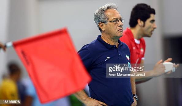 Julio Velasco coach of Iran during 17th Asian Men's Volleyball Championship between Iran And Japan on October 5 2013 in Dubai United Arab Emirates
