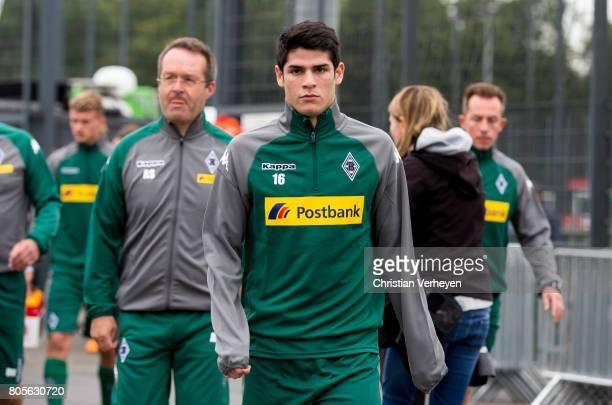 Julio Villalba ahead a training session of Borussia Moenchengladbach at BorussiaPark on July 02 2017 in Moenchengladbach Germany