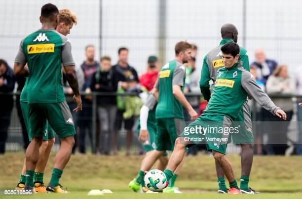 Julio Villalba during a training session of Borussia Moenchengladbach at BorussiaPark on July 02 2017 in Moenchengladbach Germany