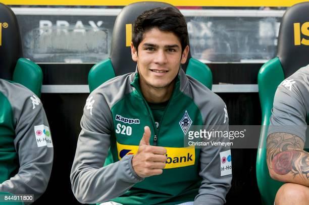 Julio Villalba of Borussia Moenchengladbach ahead the Bundesliga match between Borussia Moenchengladbach and Eintracht Frankfurt at BorussiaPark on...