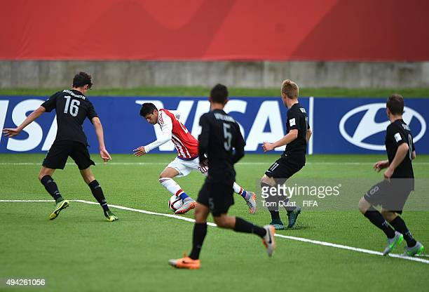 Julio Villalba of Paraguay in action during the FIFA U17 World Cup Chile 2015 Group F match between Paraguay and New Zealand at Estadio Chinquihue on...